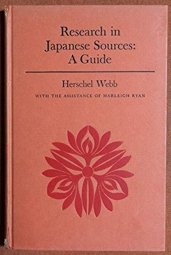 9780231027397: Webb: Resarch in Japanese Sources (Cloth)