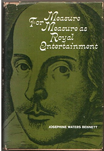 9780231029216: Measure for Measure: As Royal Entertainment
