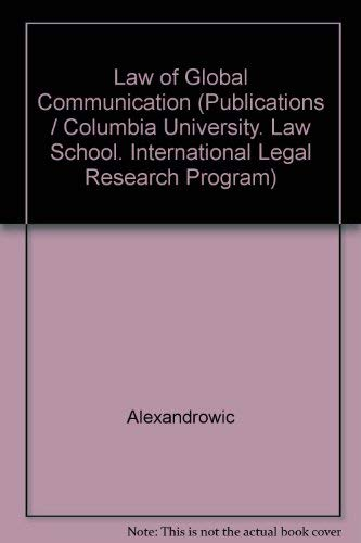 Law of Global Communication: Alexandrowicz, Charles Henry
