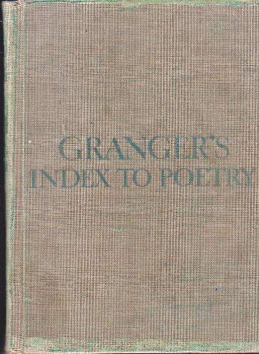 9780231036412: Granger's Index to Poetry