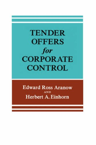 9780231036719: Tender Offers for Corporate Control