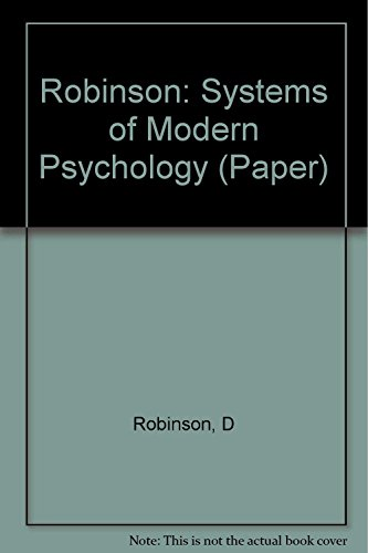 9780231043090: Robinson: Systems of Modern Psychology (Paper)