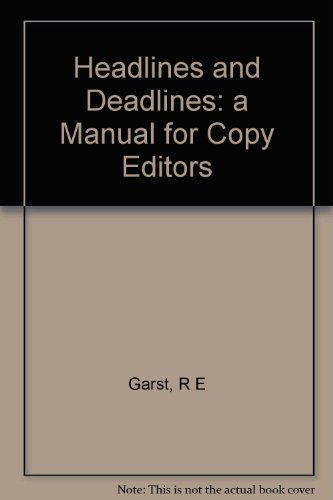 9780231048170 headlines and deadlines a manual or copy editors