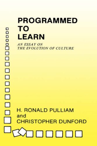 9780231048385: Programmed to Learn: An Essay on the Evolution of Culture