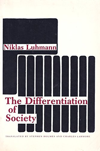 9780231049979: The Differentiation of Society