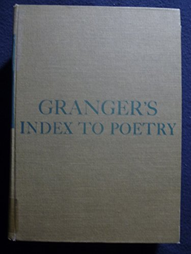 9780231050029: Smith: Grangers Index to Poetry 7ed (Cloth)