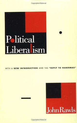 9780231052498: Political Liberalism