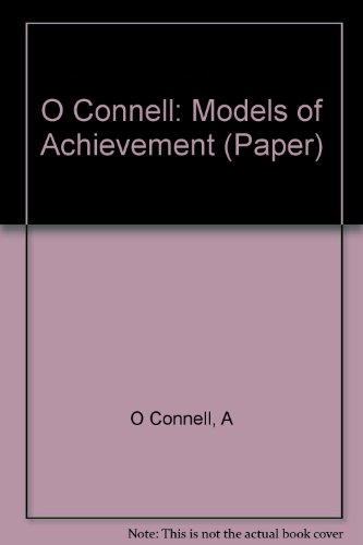 9780231053136: Models of Achievement: Reflections of Eminent Women in Psychology