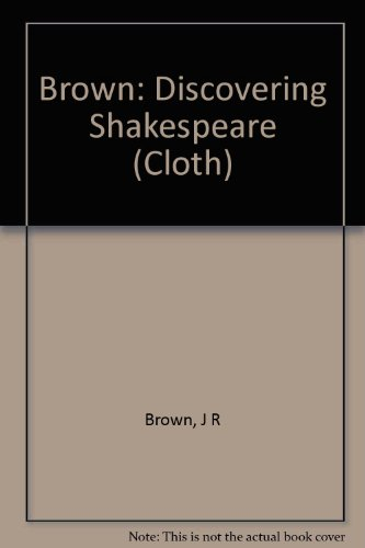9780231053587: Discovering Shakespeare: A New Guide to the Plays
