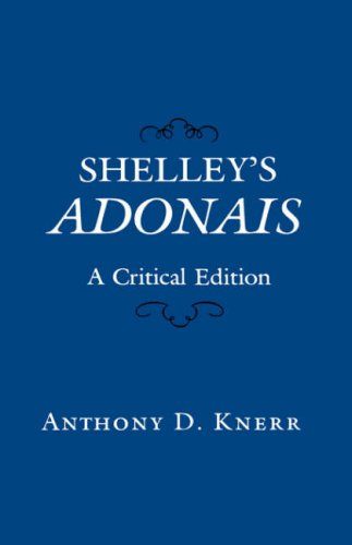 9780231054669: Shelley's Adonais: A Critical Edition