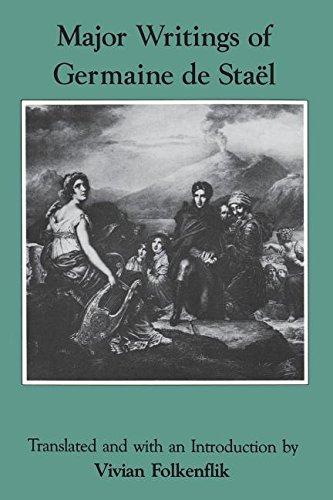 9780231055871: Major Writings of Germaine De Stael