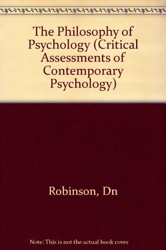 9780231059220: Philosophy of Psychology (Critical Assessments of Contemporary Psychology)
