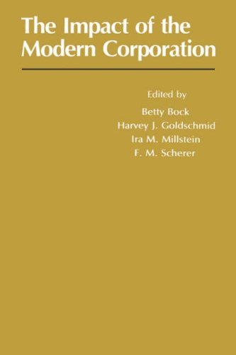Impact of the Modern Corporation (Paperback): Betty Bock