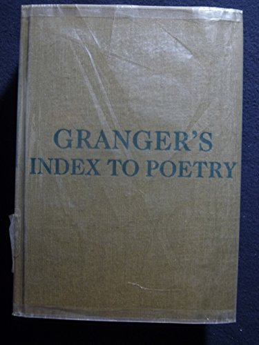 9780231062763: Granger's Index to Poetry
