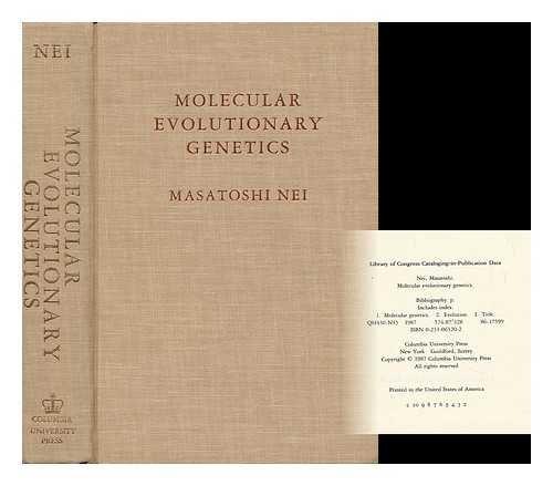 9780231063203: Molecular Evolutionary Genetics