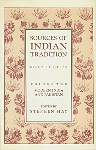 Sources of Indian Tradition, Vol. 2: Modern