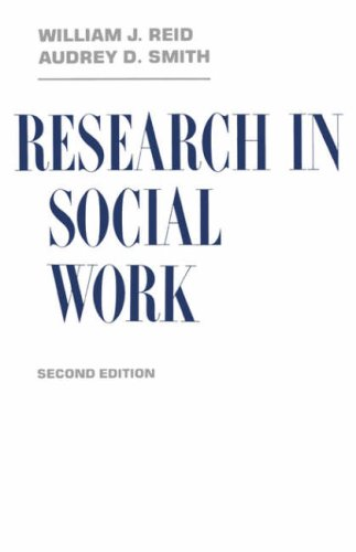 Research in Social Work: Fortune, Anne; Reid, William; Smith, Audrey