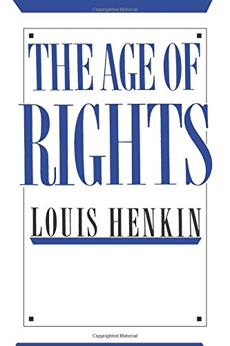 9780231064453: The Age of Rights