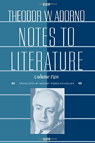 9780231069137: Notes to Literature, Volume 2