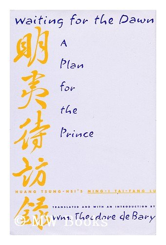9780231080965: Waiting for the Dawn: A Plan for the Prince (Translations from the Asian Classics)