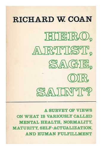 9780231083553: Hero, Artist, Sage, or Saint?