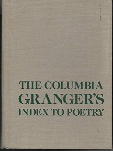 9780231084086: The Columbia Granger's Index to Poetry