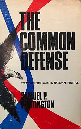 9780231085663: Common Defense: Strategic Programs in National Politics