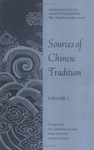 9780231086028: Sources of Chinese Tradition: Volume I (Unesco Collection of Representative Works. Chinese Series)