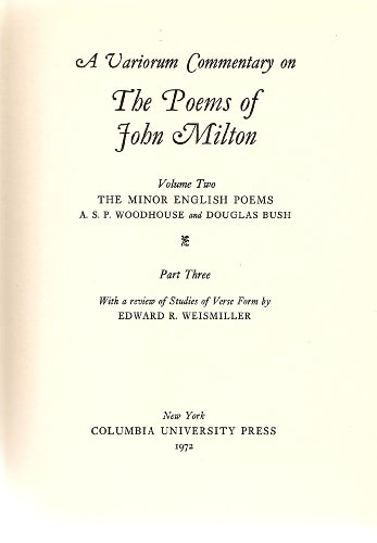 A Variorum Commentary on the Poems of: A. S. P.