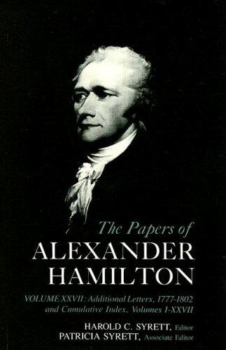 9780231089265: Cumulative Index to the Papers of Alexander Hamilton Vol No.27