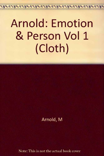 9780231089395: Emotion & Personality Volume 1: Psychological Aspects