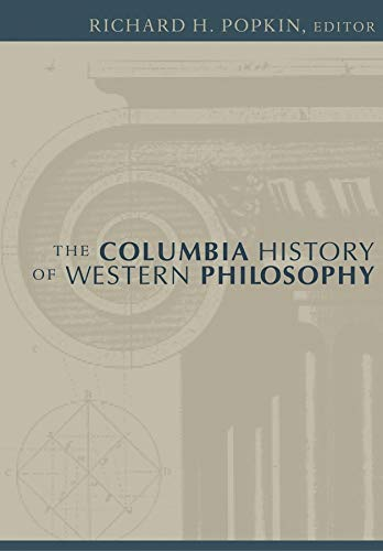 9780231101288: The Columbia History of Western Philosophy