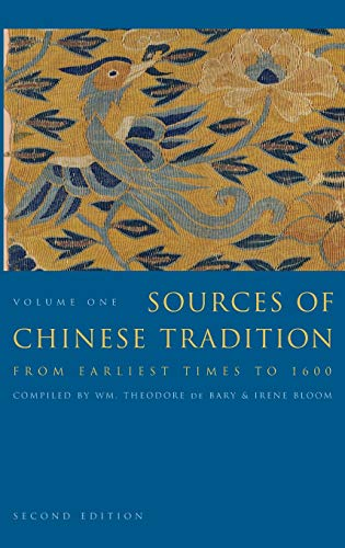 9780231109383: Sources of Chinese Tradition: 1