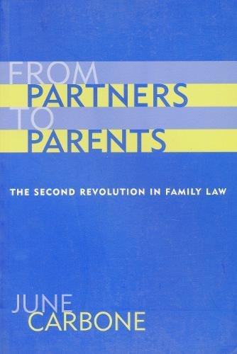 9780231111164: From Partners to Parents - The Second Revolution in Family Law