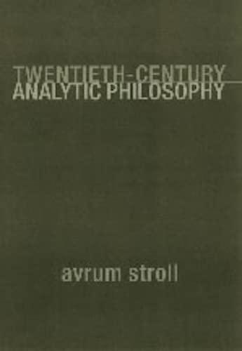 9780231112208: Twentieth-Century Analytic Philosophy