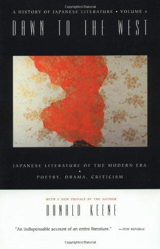 A History of Japanese Literature: Volume 4: Keene, Donald