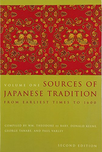 9780231121392: Sources of Japanese Tradition, Volume One: From Earliest Times to 1600