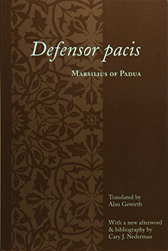 9780231123556: Defensor Pacis (Records of Western Civilization Series)