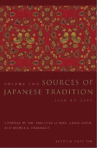 9780231129848: Sources Of Japanese Tradition: 1600 To 2000