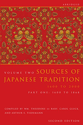 9780231139175: Sources of Japanese Tradition, Volume 2 Part 1 1600 To 1868