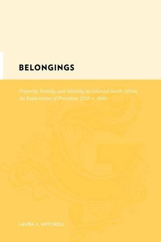 Belongings Property, family and identity in colonial South Africa