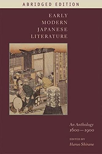 9780231144148: Early Modern Japanese Literature: An Anthology, 1600-1900 (Abridged Edition) (Translations from the Asian Classics (Hardcover))