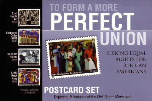 """9780231461597: To Form a More Perfect Union: Seeking Equal Rights for African Americans: Postcard Set Depicting Milestones of the Civil Rights Movement: Postcard Collector's Set, 20 4x6"""" Postcards, Two Postcards of Each Image (400231461593, 23146159)"""