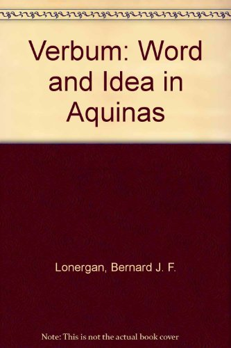 9780232356489: Verbum: Word and Idea in Aquinas