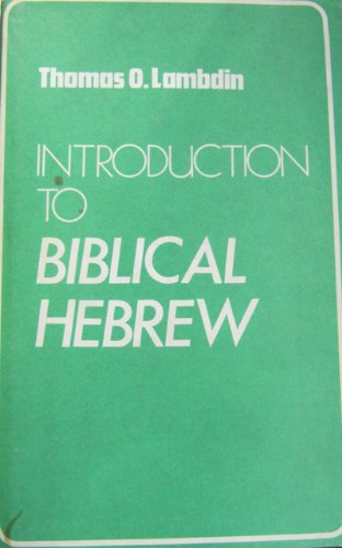 9780232512021: Introduction to Biblical Hebrew