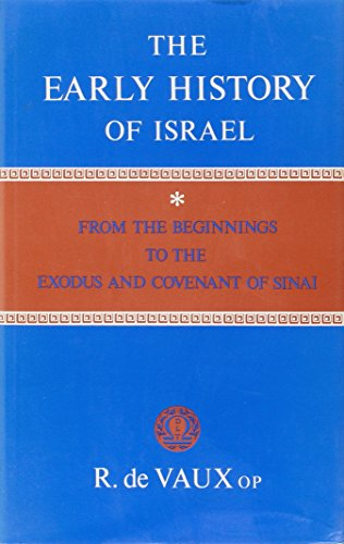 9780232512427: The Early History of Israel