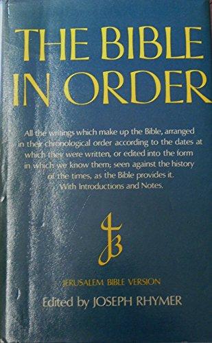 Bible in Order: Joseph Rhymer (Editor)