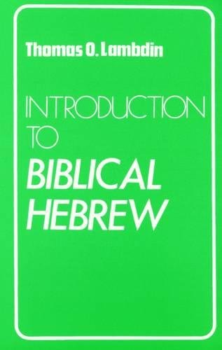 9780232513691: Introduction to Biblical Hebrew