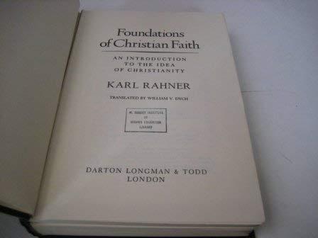 9780232514063: Foundations of Christian Faith