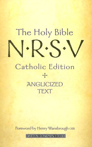 9780232526028: The Holy Bible: N.R.S.V. Catholic Edition and Anglicized Text: New Revised Standard Version Catholic Edition